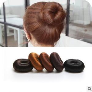 Коричневый / светло-коричневый/черный / золотой / натуральный черный парик пончик для волос Magic Bud-like Hair Bun Maker Wig Accessories HA090