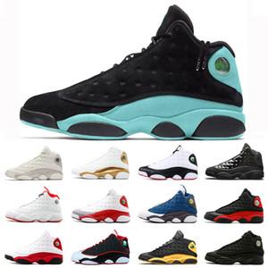 Le plus récent 13 13s Green Island chaussures Baksetball pour hommes d'hommes Cour pourpre royale Hyper He Got Nom chaussures Flint Sport Entraîneur 40-47