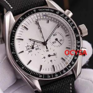 LuxuxMens Chronograph Uhren Männer Snoopy 007 DIVER 300M Armbanduhr Quarz-Faltschliesse Mann Uhren Orologio Montre