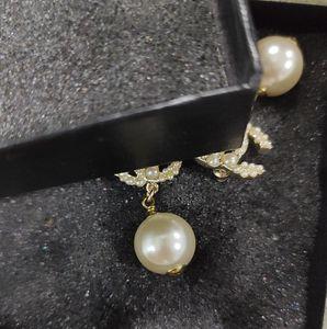 Stud Earrings Fashion Pearl Earrings 2020 Gold Color Geometric Stud Earrings Women Hanging Dangle Earring Lady Jewelry Not Fade