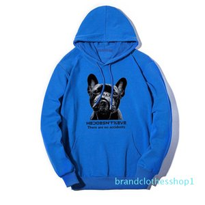 Hoodie Thin Fashion Deisgner Crew Neck Hoodie Sweater M-5XL 5 Color Lovely Dog Print Mens Clothing for Boys Streetwear Couple Clothes