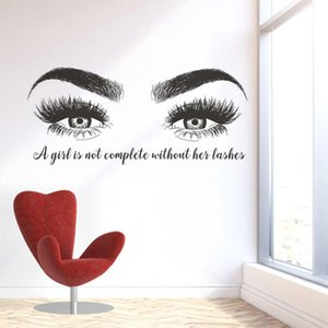 Eyelashes Eyebrows Vinyl Wall Sticker Beatuy Salon Quotes Vinyl Wall Sticker Lashes Extension Winodow Art Poster Decor