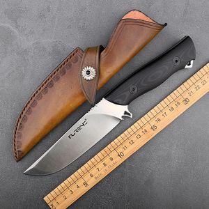 Petit utilitaire de jeu de chasse couteau à lame fixe main outils tactiques de survie chasse de camping en plein air nettes et durables couteau portable droit E