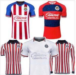 Tamaño S-2XL MEXICO club Chivas de Guadalajara hogar tercera distancia Blanca mundial de clubes de manga larga A.PULIDO LOPEZ camisas del fútbol de los jerseys del fútbol 2020