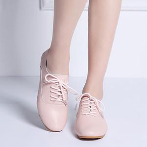 NTK 2019 Automne Femmes Flats Chaussures Femmes en cuir véritable Compensées Chaussures Femme Mocassins Slip sur Ballerines Ballerines Flats 051