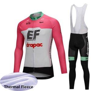 EF Eğitim Ilk takım Bisiklet Kış Termal Polar forması önlük pantolon setleri 2019 Spor Hızlı kuru MTB Giyim Açık bisiklet U81609