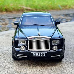 01:24 Diecast élégante berline de luxe Limousine limousine pour TheRolls-Royce Ghost Métal Model Car Collection 6 Portes ouvertes Véhicule Jouets