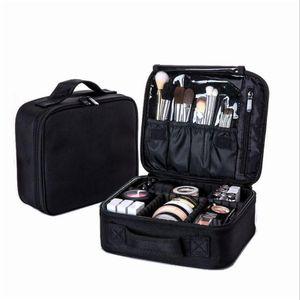 Women Professional Cosmetic Bag Large Waterproof Travel Makeup Bag Trunk Zipper Make Up Organizer Storage Pouch Toiletry Kit Box