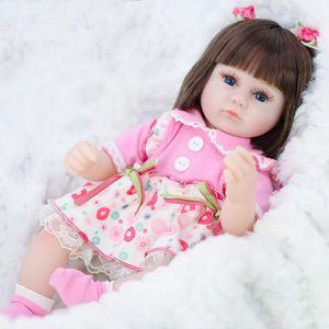 Regalos de silicona muñeca renacida Simulación de bebé Bebe Reborn niño suave para bebés Juguetes para niñas Niño cumpleaños de Navidad. # KK