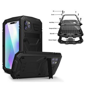 métal imperméable à l'eau de luxe Armure en aluminium 360 complet de protection pour iPhone nouvelle 11 pro max iphone xr xs max Housse avec support
