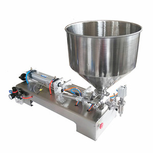 100-1000ml Halbautomatische Flasche Flüssig-Füllmaschine für Honig / Creme / Kosmetik / Sauce / Zahnpasta 4-60 Flaschen pro Minute