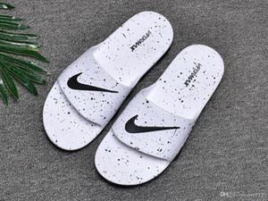 Sandalias de deslizamiento de moda zapatillas para hombre 2019 Diapositivas de diseñador calientes impresas unisex sandalias de playa zapatillas MEJOR CALIDAD 40-45