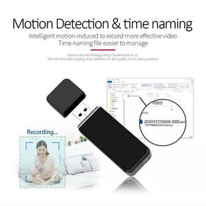 1080P HD mini cámara USB disco de vídeo grabador portátil de U-disco de grabación de detección de movimiento cíclico mini DV DVR Soporte