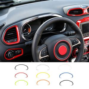 Auto-Armaturenbrett-Box Cover Trim ABS Instrumententafel Dekoration Abdeckung gepasst für Jeep Renegade 2016-2019 Car Interior Zubehör