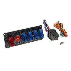 Oto Motor Ateşleme Sadece Yarış Otomobil için 1 Panel Karbon Elyaf Entegre Başlangıç Paneli switch- devreye sok 6