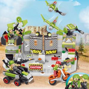 Askeri yapı taşı bebek bebek uçak mücadele araç yapı taşı saklama kutusu set süsler eğitici oyuncaklar