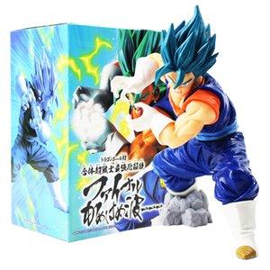18cm Dragon Ball Z Super Saiyan God Vegeta Kamehameha Dragonball Blue Hair Figure Pvc Action Figure Collectible Model Doll Toy CX200703