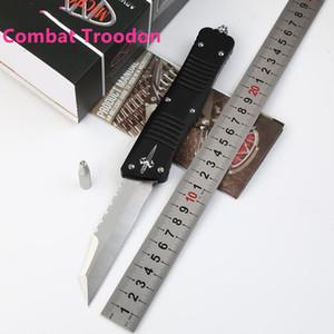 Лучшие качества Microtech Marfione Пользовательские Combat Troodon Hellhound нож D2 Single Edge Fine нож авиационный алюминий Ручка EDC передач