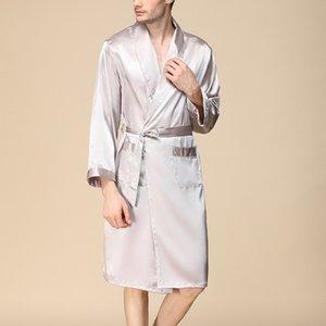 Erkekler Leke İpek Pajama Modern Stil Sleepwears Erkekler Seksi Yumuşak Homme Rahat Saten Gecelik Casual Lounge Pijama Gecelik Takımları