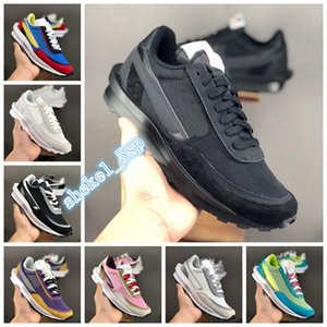 New Sacai LDV Waffle Daybreak White Black Trainers Mens Running Shoes For Women fashion designer Breathe Triper Sports Sneakers Size 36-45