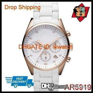 100% ORIGINAL Japan Steel MOVIMIENTO GOTA del nuevo acero de cuarzo relojes cronógrafos amantes del reloj AR5919 AR5920 Blanca
