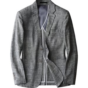 Men's Casual Slim Linen Casual Pure Color Single Breasted Suit New Style Fashion Brand Male Comfortable Clothing Plus Size M-4XL