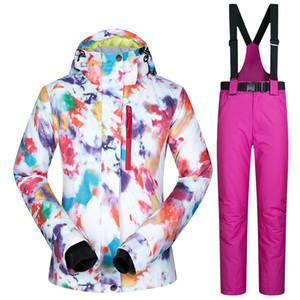 Trajes de esquí para mujeres Marcas Chaqueta y pantalones de esquí impermeables, transpirables y cálidos Trajes de esquí y snowboard de invierno Chaqueta de invierno para mujeres