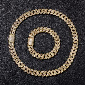 2019 Nuova Collana con Diamanti Hip Hop Micro Collana con Ciondolo in Rame Cubico Zircone Quadrato con Diamanti Placcatura in Oro 18k Ghiaccio a Catena