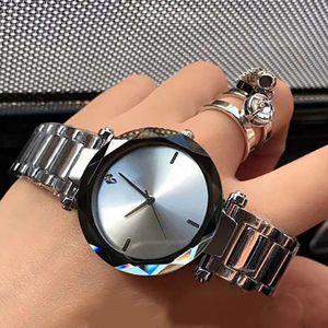 nuova dell'acciaio inossidabile di modo 2020 di marca orologio del regalo top impermeabile orologio al quarzo vestito in acciaio inox commercio all'ingrosso della vigilanza trapano 34 millimetri delle donne