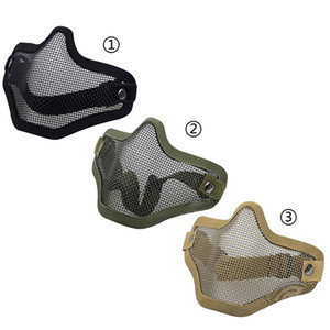 Mesh Airsoft Masque Boutique Tactique Chasse Mental Fil Demi Masque En Plein Air Vélo Équitation En Plein Air Champ En Plein Air Paintball Résistant