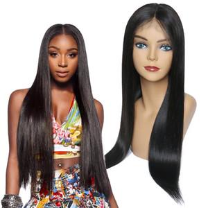 Малазийский необработанных человеческих волос кружева фронтальный парик естественный цвет шелковистой прямой регулируемая полоса кружева фронтальные парики 8-26 дюймов