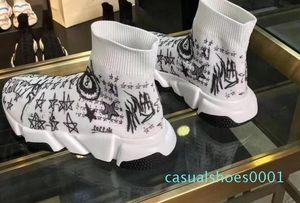 entrenadores TY Triplicador diseñador entrenador de velocidad de lujo para mujer calzado casual zapatillas de deporte de marca brillo calcetines botas corredores calcetín zapatos AC01