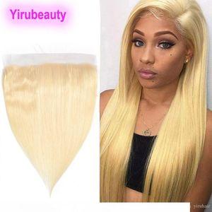 B 브라질 버진 헤어 13x4 레이스 정면 (613) #Blonde 레미 인간의 머리 부드러운 직선 10A 사전 뽑아 13x4 레이스 정면 8 -22inch Straig