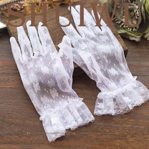 Im Lager Günstige New Sexy Fingerlose Handschuhe Hochzeit Brauthandschuhe Zubehör wulstige Spitze Handschuhe Hochzeit Zubehör Handgelenk Länge