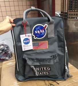 NASA 배낭 19ss 국기 디자이너 배낭 남성 여성 디자이너 가방 소년 소녀 학생 schoolbag