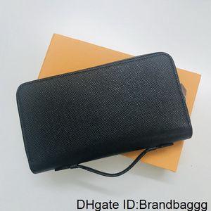 Zippy XL CÜZDAN Fransa Lüks Tasarımcı Erkekler Smartphone Pasaport Anahtar Tutucu Kredi Kartı Nakit Cüzdan Damier Tuval Tayga Deri Üst Kalite