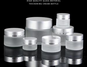 5g высокого качества стекла крем банка с алюминиевой крышкой, 5мли широкий рот косметического контейнера, крем для глаз косметической упаковки