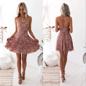 Vintage Blush Lace Floral Short Cocktail Dresses Layers Skirts Modern Sleeveless Jewel Neck Mini Evening Party