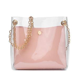 FGGS-Fashion Women's Mini Umhängetasche Freier transparente Mädchen-nette Composite-Tasche Weibliche Handtaschen