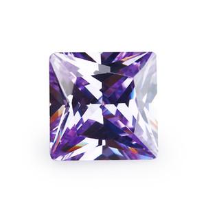 Facotry Atacado mistura directa de cor 30 PCS / saco de 10 * 10 milímetros asscher facetada Corte Forma 5A VVS solta zircónia cúbico por jóias diy