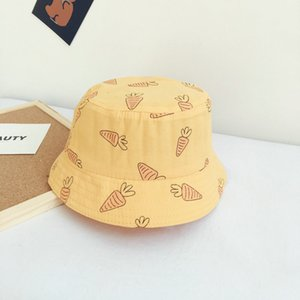 The Korean version of the new pattern embroidered hat baby of Japanese art student bucket hat