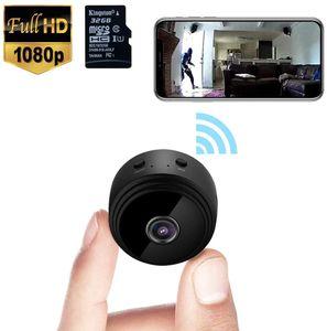 Mini caméra WiFi sans fil caché caméra vidéo HD 1080P Surveillance de petits Caméras de sécurité portable minuscule Nanny Cam