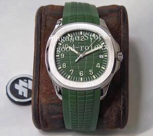 4 Color relojes para hombres de 40 mm reloj automático Cal.324 SC Verde Gris Azul Dial pulsera 5167 Eta correa de caucho fábrica ZF acuanauta de los hombres de