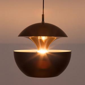 Apple criativo simples candelabro de ouro pequeno pendente lâmpada restaurante lâmpada de mesa sala de estar do estudo do sótão pendente luzes da lâmpada