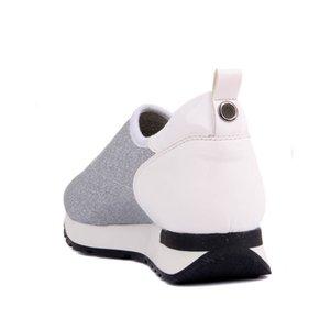 Stretch Femmes Chaussures de sport quotidiennes Avslappnad Chaussures Lakers-Silver Sail