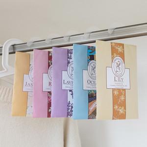 5 tipos de Multi-funcional Air Freshener Sachet Roupeiro mofo e repelente de insetos Roupas Desodorante Sachet Bag Rose Lemon Violet
