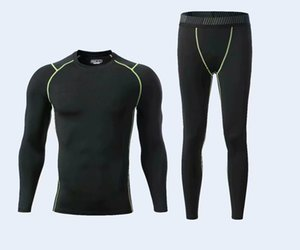 YANQIN New Compression Fitness Tight Sets T-shirt And Joggers Leggings Men's Sportswear Quite Dry Gyms Clothing Workout Suit