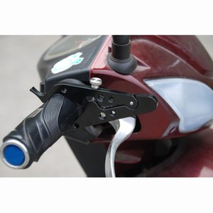 Universal Aluminum Motorcycle Adventure CruiseThrottle Clamp With Rubber Ring Handlebar Black Scooter Cruise Control Assist