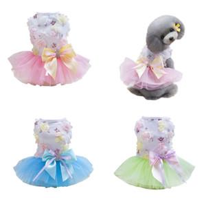 Pet Dog Princess Dress Verão Dog Wedding Dress Saia Chihuahua Yorkie Spring Summer Roupas Cachorro Princesa Mesh Dress