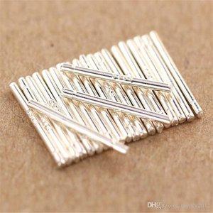 New Trendy Piercing Stud Earrings 100% 925 Sterling Silver Ear Pins Earring For Women Men Girls Size 0.75*11MM BL